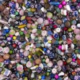 Struttura multicolore della priorità bassa del branello di Lampwork Fotografia Stock Libera da Diritti
