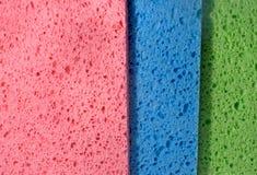 Struttura multicolore della spugna, primo piano Fotografia Stock