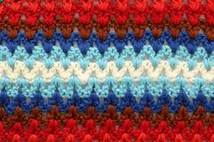 Struttura multicolore lavorata a maglia Fotografie Stock