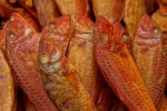 Struttura naturale del pesce affumicato del dentice del mare fotografie stock