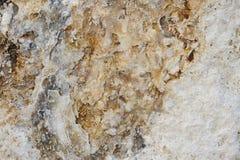 Struttura naturale della roccia del travertino Fotografia Stock Libera da Diritti