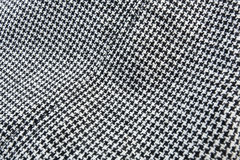 Struttura nera & bianca del tessuto Fotografia Stock
