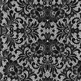 Struttura nera del merletto Fotografie Stock Libere da Diritti
