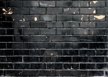Struttura nera del muro di mattoni di lerciume Fotografia Stock Libera da Diritti