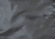 Struttura nera della borsa del tessuto sintetico Fotografia Stock