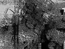 Struttura nera e d'argento astratta del grunge Fotografie Stock Libere da Diritti
