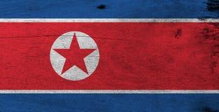 Struttura nordcoreana della bandiera di lerciume immagini stock