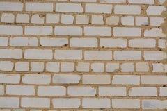 Struttura o fondo bianca del muro di mattoni Fotografia Stock