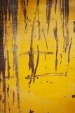 Struttura o fondo del metallo giallo di lerciume Immagini Stock Libere da Diritti