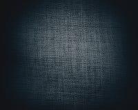 Struttura o priorità bassa nera della tela di canapa Immagini Stock