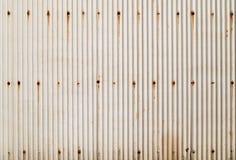 Struttura ondulata arrugginita del metallo fotografia stock libera da diritti