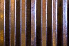 Struttura ondulata brillante del metallo Fotografia Stock