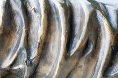 Struttura ondulata bronzea Fondo fotografie stock