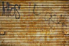 Struttura ondulata del fondo del metallo Fotografia Stock