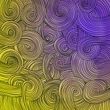 Struttura ondulata lineare variopinta Immagine Stock