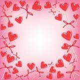Struttura originale per le foto ed il testo Caramella dell'innamorato Un regalo perfetto per il giorno del biglietto di S. Valent illustrazione di stock