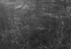 Struttura orizzontale del fondo sporco nero della lavagna Fotografia Stock