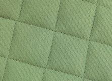 Struttura orizzontale del fondo verde del modello del tessuto da arredamento Immagini Stock Libere da Diritti
