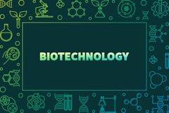 Struttura orizzontale del profilo variopinto di vettore di Biotechnolgy royalty illustrazione gratis