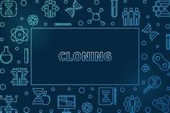 Struttura orizzontale di clonazione o illustrazione del profilo blu di vettore illustrazione di stock