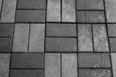 Struttura orizzontale di Gray Brick Footpath immagine stock libera da diritti