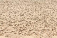 Struttura orizzontalmente Tileable della sabbia della spiaggia senza cuciture Fotografie Stock Libere da Diritti