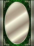Struttura ovale del metallo con gli elementi decorativi illustrazione di stock