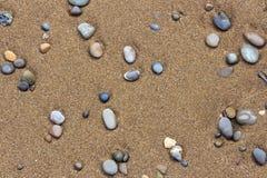 Struttura pebbled sabbia Fotografie Stock Libere da Diritti