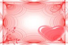 Struttura per i biglietti di S. Valentino di giorno Fotografia Stock Libera da Diritti