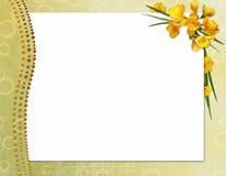 Struttura per l'invito o la congratulazione. Fotografia Stock