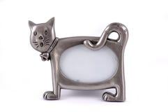Struttura per una foto sotto forma d'un gatto. Fotografia Stock