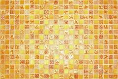 Struttura piccola arancio delle tessere Immagine Stock Libera da Diritti