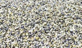 Struttura - piccole pietre dei colori differenti Fotografia Stock