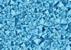 Struttura poligonale blu astratta di vettore Fotografie Stock