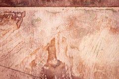 Struttura polverosa sporca graffiata del piatto di rame, vecchio fondo del metallo immagine stock