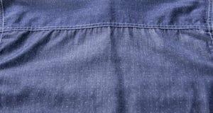 Struttura posteriore della camicia blu fatta da cotone puro, modo per il signore Immagini Stock Libere da Diritti