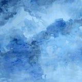 Struttura progettata della carta di lerciume, fondo astratto artistico blu di vettore dell'acquerello, stile disegnato a mano per