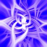Struttura psichedelica bianca del fiore Immagini Stock
