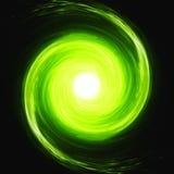 Struttura psichedelica verde dello spazio Fotografia Stock