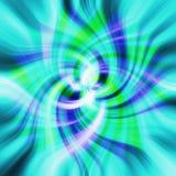 Struttura psichedelica verde e blu del fiore Immagine Stock