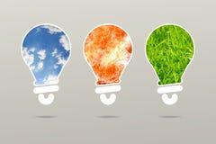 Struttura pura stabilita di idea di affari della lampada di energia royalty illustrazione gratis