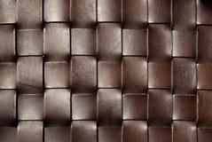 Struttura quadrata del cuoio di colore marrone scuro fotografia stock
