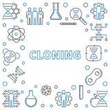 Struttura quadrata di clonazione o illustrazione del profilo minimo di vettore royalty illustrazione gratis
