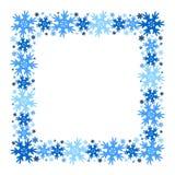 Struttura quadrata di inverno di vettore dei fiocchi di neve Isolato illustrazione vettoriale