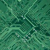 Struttura quadrata elettronica del circuito Fotografia Stock