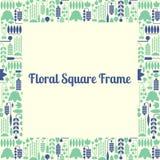 Struttura quadrata floreale Fotografia Stock Libera da Diritti