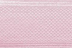 Struttura quadrata rosa con il modello netto Fotografie Stock