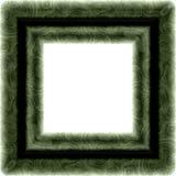 Struttura quadrata strutturata verde isolata Fotografia Stock