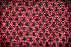 Struttura a quadretti classica rossa, fondo con lo spazio della copia Fotografia Stock Libera da Diritti