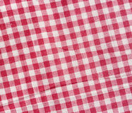 Struttura a quadretti rossa e bianca Fotografie Stock